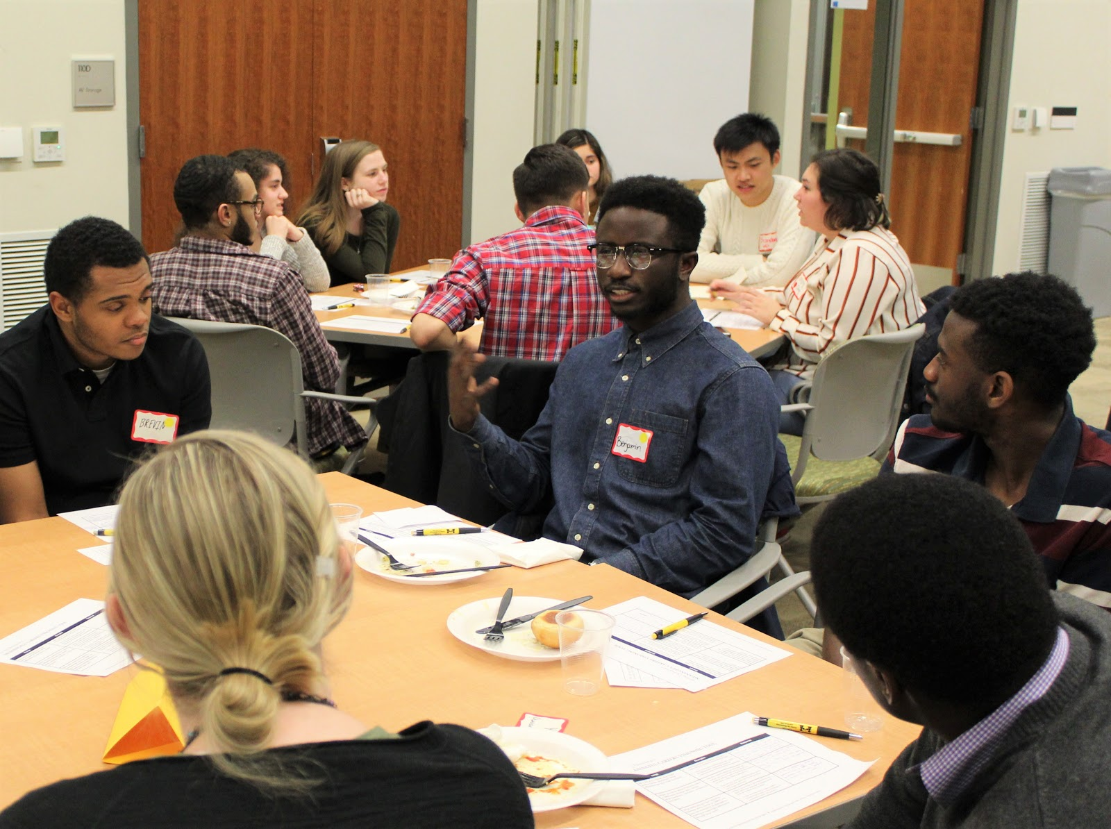 Students in a round table discussion